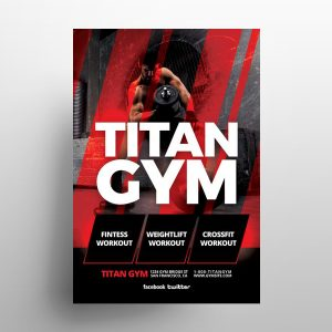 Workout Fitness Free PSD Flyer Template