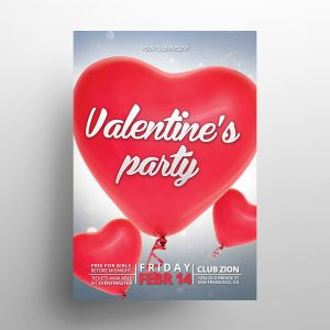 Valentine's Party - Freebie PSD Flyer Template