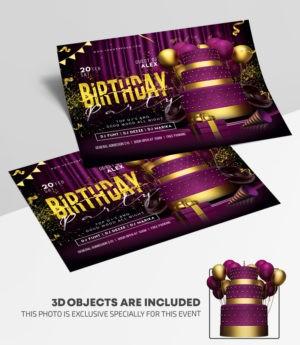 Birthday Bash Free PSD Flyer Template