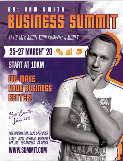 Business PSD Flyer Template for Free