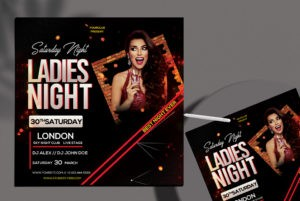 Club Style PSD Free Flyer Template