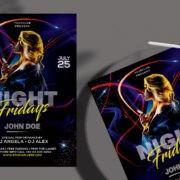 Dance Dj Night Free PSD Flyer Template