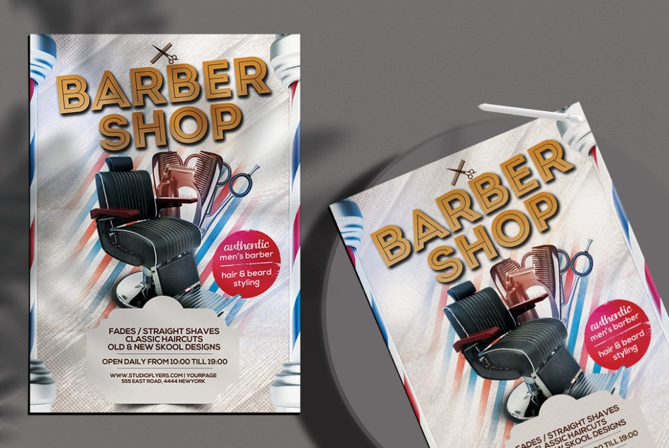 Free Barbershop Flyer Template in PSD