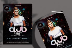 Free Club Event PSD Flyer Template