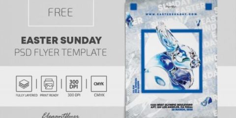 Free Easter Day Flyer Template in PSD