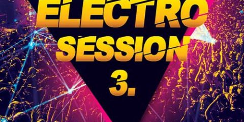 Free Electro Club Session Vol. 3 Flyer Template in PSD