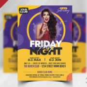 Free Friday Party PSD Flyer Template