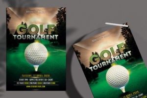 Free Golf Tournament Flyer Template in PSD