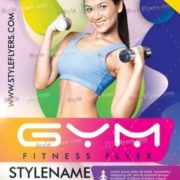 Free Gym and Fitnes Flyer Template in PSD
