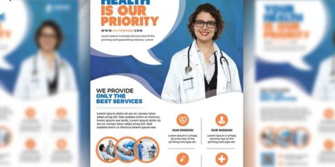 Free Hospital and Health Flyer PSD Template