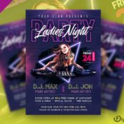 Free Ladies Night Party Flyer Template in PSD