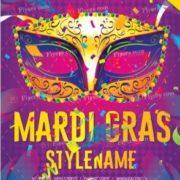 Free Mardi Gras PSD Flyer Template