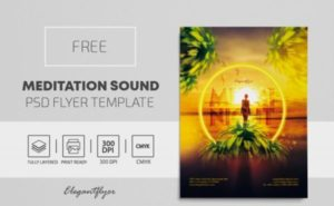 Free Miami Night PSD Flyer Template