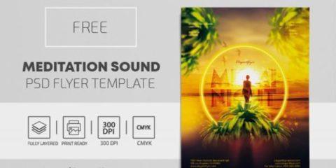 Free Miami Night PSD Flyer Template