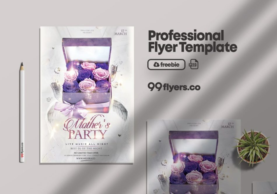 Free Mother's Day Event Flyer Template in PSD