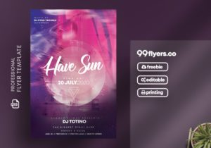 Free Music Club Party Flyer Template in PSD