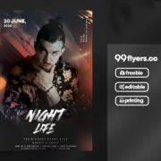 Free Night Vibe Flyer PSD Template