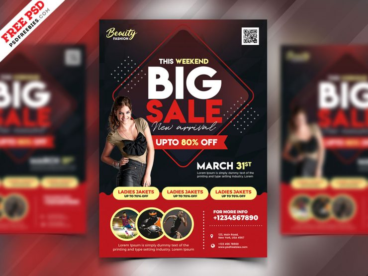 Free Special Sale Flyer in PSD