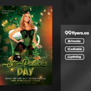 Free St Patricks Day Flyer Template in PSD