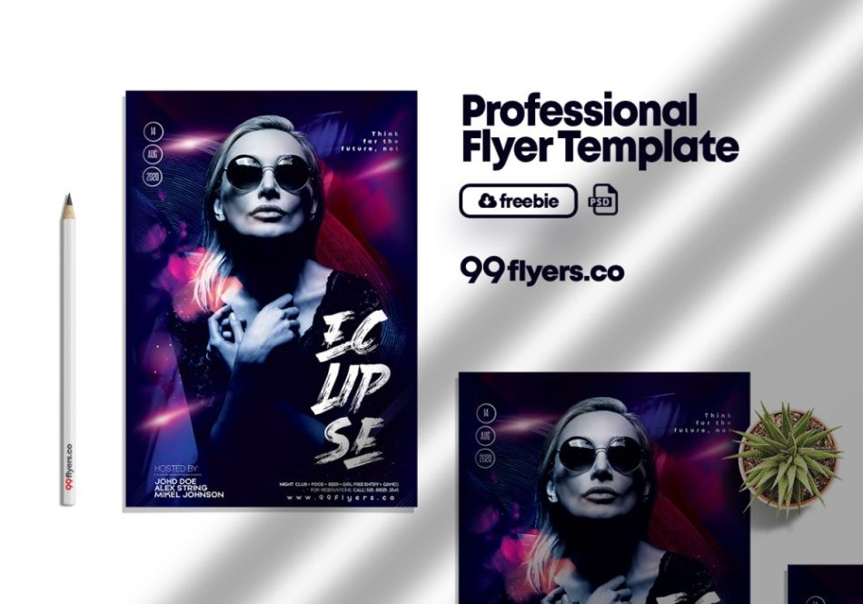 Free Urban Club Party Flyer PSD Template