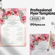 Free Wedding Check List Flyer Template in PSD