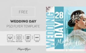 Free Wedding Day Flyer Template in PSD