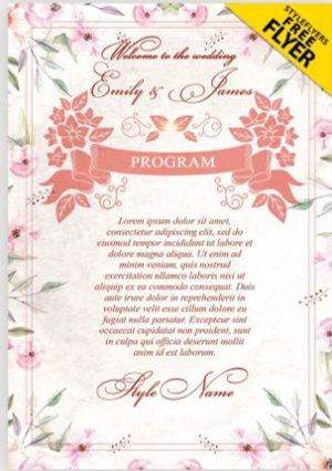 Free Wedding Program Flyer