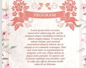 Free Wedding Program Flyer