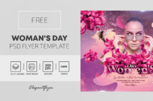 Free Woman's Day PSD Flyer Template