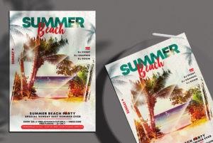 Friday Beach – Free Summer PSD Flyer Template