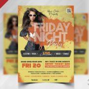Friday Night Free PSD Flyer