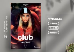 Futuristic Party Free PSD Flyer Template