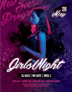 Girls Night Free PSD Flyer