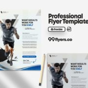 Gym Fitness Flyer PSD Template for Free