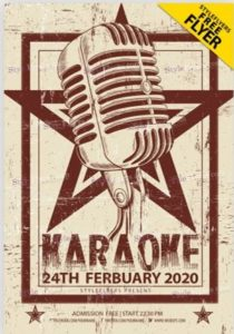 Karaoke Sound Free PSD Flyer Template