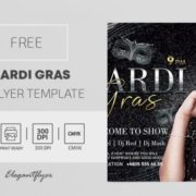 Mardi Gras Party Free PSD Flyer Template