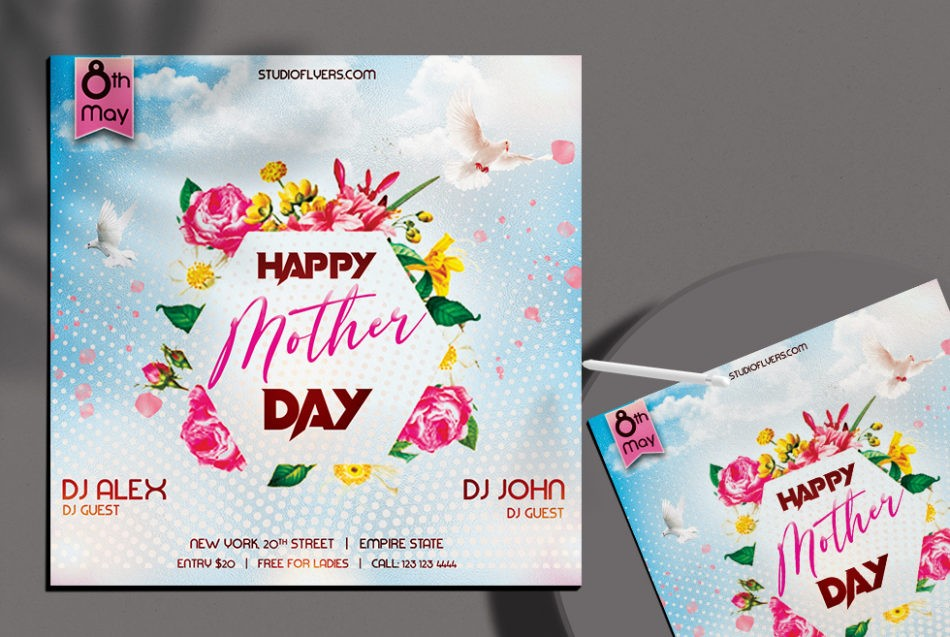 Mother's Day Party Free PSD Flyer Template
