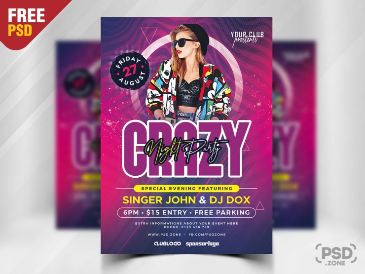 Night Party for Ladies Free PSD Flyer Template