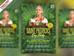Saint Patrick's Day Celebration Freebie PSD Flyer
