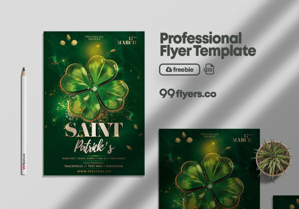 Saint Patrick's Party Free PSD PSD Template