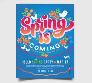 Spring Event Free PSD Flyer Template