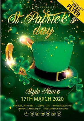 St Patricks Day Flyer – Free PSD Template