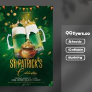 St. Patrick's Beer Party Flyer Free PSD Template