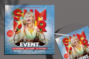 Summer Event Party Free PSD Flyer Template