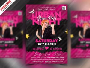 Urban Party Free PSD Flyer Template