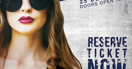 Artist Concert PSD Flyer Template for Free
