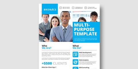 Corporate Free PSD Flyer Template Vol.2