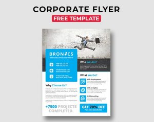 Corporate Free PSD Flyer Template Vol.3