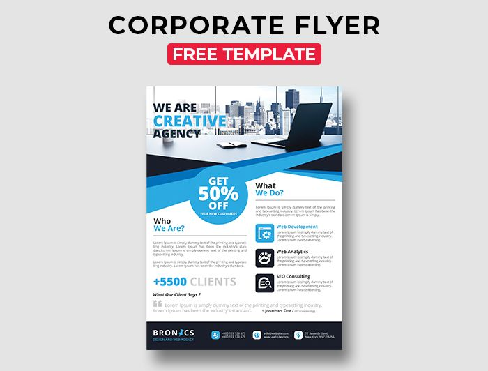 Corporate Free PSD Flyer Template Vol.4