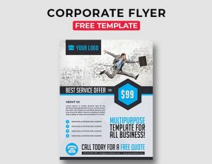 Corporate Free PSD Flyer Template Vol.5